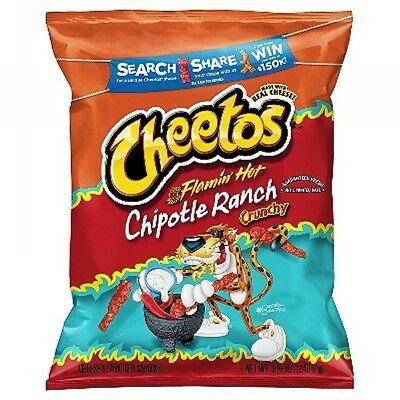 Cheetos Flamin Hot Chiptole Ranch 8.5 oz (Pack of 3)