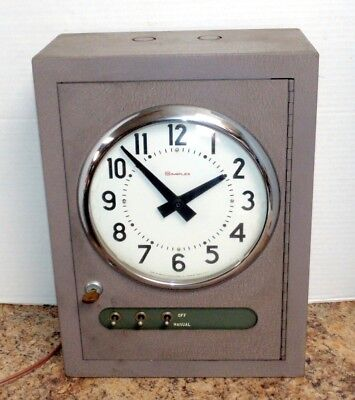 Vintage Simplex Time Recorder R83 School Clock Bell Control Working