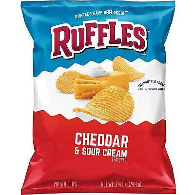 Ruffles Cheddar & Sour Cream Aromatisiert Kartoffel Chips (78ml EA 24 Ct