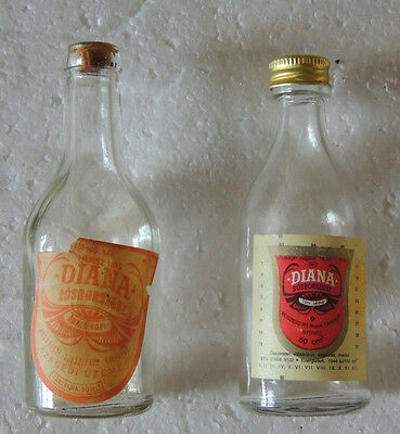 Vintage old antique HUNGARIAN SOSBORSZESZ BOTTLE empty small ONE FROM 1940-1960