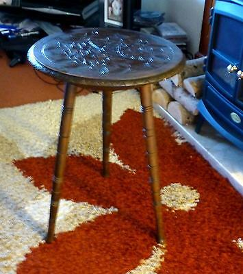 Table Antique Solid Carved Wood Table Bobbin Type Legs - Stunning