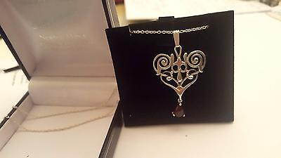 Pendant Sterling Silver Vintage  Beautifully Stylish Very Pretty Piece -Stunning