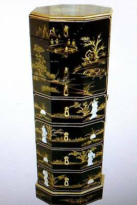 Jewellery BOX floor standing cabinet Lacquer Octagonal  -   luxury -OUTSTANDING