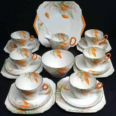 TEA SET SHELLEY CHINA WISTERIA 21 PIECE SERVICE C 1930's-1938 -SOLD OUT