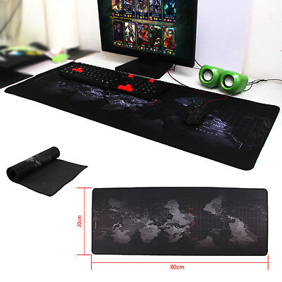 Office World Map Large Cloth Extended Rubber Gaming Mouse Desk Pad Mat UK Seller