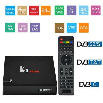Amlogic S905D Android 7.1 Quad-core 2GB/16GB TV BOX+DVB-S/S2/T/T2/C Airplay STB
