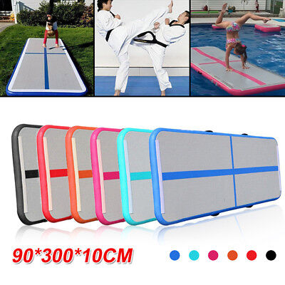 0.9x3m Air Track Inflatable Outdoor Floor Home Gymnastics Tumbling Mat GYM