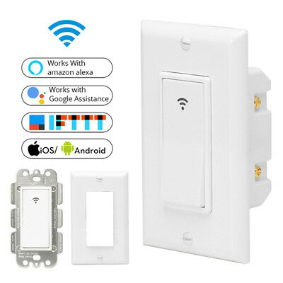 WiFi Smart Wall Light Switch Remote Control Works with Amazon Alexa Google Home