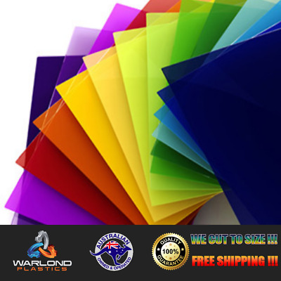 COLOURED ACRYLIC SHEET (A3) SIZE (420x297x3mm) / UV / commonly known as perspex
