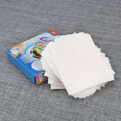 20 Sheets Color Guard Catcher Avoid Colo Runs Washing Machine Clothes Laundry