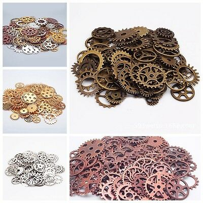 Metal Bronze Silver Gold Steampunk Cogs Gears Clock Hand Charm Mix Crafts DIY Ac