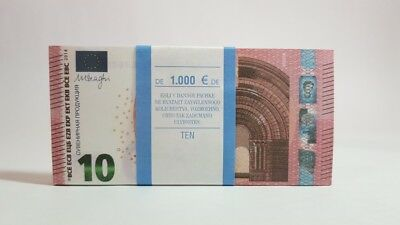 10 EURO TEN € Pack of notes paper  souvenir Play Money Training Banknotes copy
