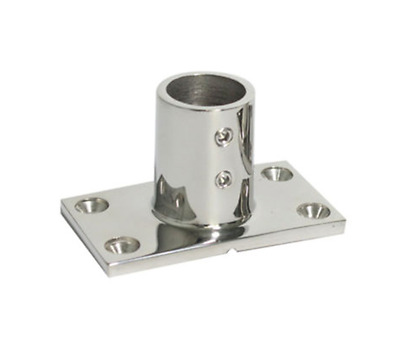 "2x Hand Rail Fitting 90 Degree 7//8/"" Rectangular Base Stainless Steel Cabin Solid"