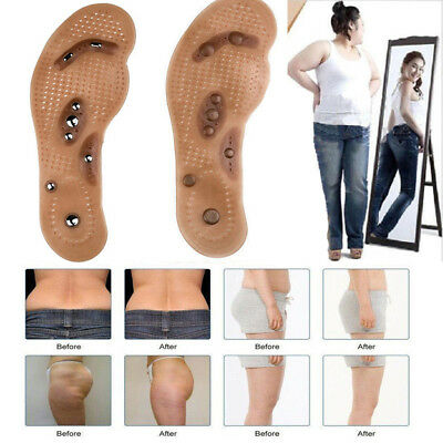 Men Women Magnetic Therapy Massage Shoes Insole Pain Relief Weight Loss Foot Pad