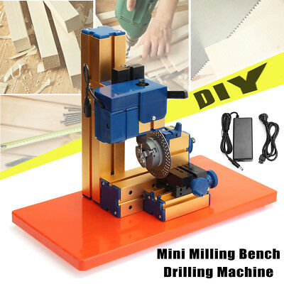 100v-240v DIY Mini Lathe Rotary Spin Indexing Milling Bench Drilling Machine 24w