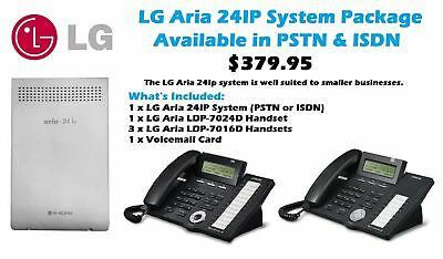 LG Aria 24IP System Package (PSTN & ISDN Available)