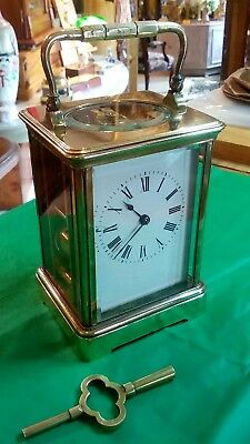 Antique French Carriage clock, strikes the half and full hours, running lovely