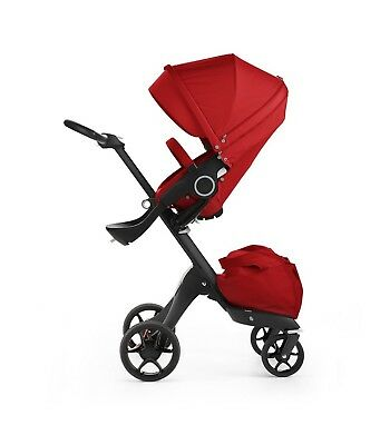 STOKKE Xplory V5 Red - Black Chassis 480004 NEW Express UK Delivery NEW