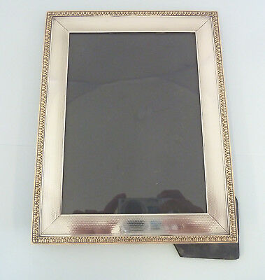 ASPREY Solid Silver GILT Engine Turned PHOTOGRAPH Frame, London 1924.