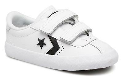 14aea0f1fecded Converse Breakpoint 2V Ox Infants UK 9 EU 25 White Leather Touch Close  Trainers