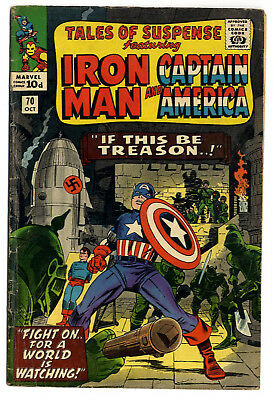 Tales of Suspense #70 (Marvel 1965 fn+ 6.5) Heck & Kirby. Guide: $29.50 (£23.00)