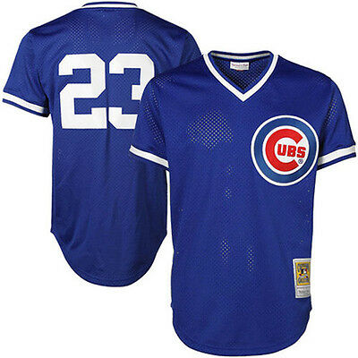 Mitchell & Ness MLB Chicago Cubs Ryne Sandberg Cooperstown Authentic BP Jersey