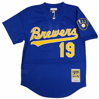 Mitchell & Ness MLB Milwaukee Brewers Robin Yount 1991 Authentic Mesh BP Jersey