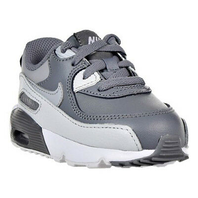 Nike Air Max 90 Leather Boys Toddler Cool Grey Wolf Grey Shoes 833416-013