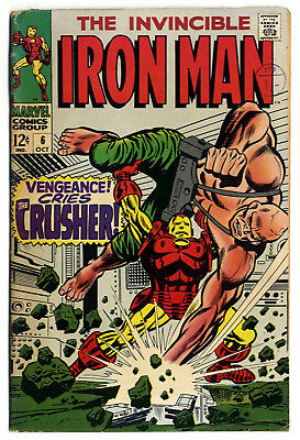 Iron Man #6 (Marvel 1968, fn+ 6.5) guide value: $23.00 (£18.00)