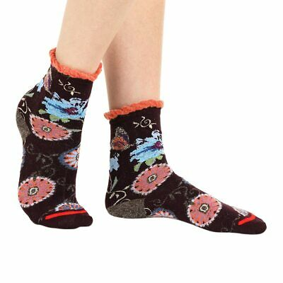 hot new products best sneakers exclusive shoes BUTTERFLY WOMEN'S CRAZY floral ankle socks in purple   By ...