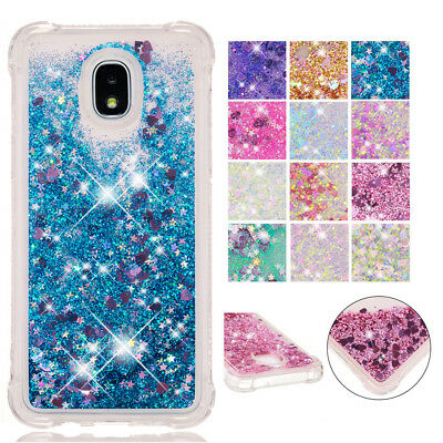 For Samsung Galaxy J4/J6/J7 Plus 2018, Bling Glitter Liquid Quicksand Cover Case