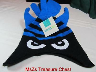 Boy's Cap & Gloves  Black & Blue Monster Face  size Toddler  ** New with Tags **