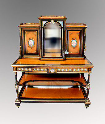 A Very Beautiful French Satinwood Bonheur Du Jour / Writing Table / Desk
