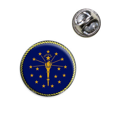 Indiana State Flag Lapel Hat Tie Pin Tack