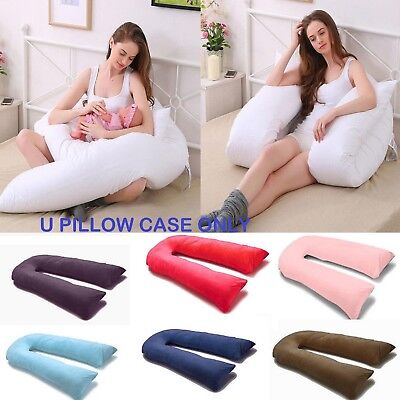 9ft-U-Pillowcase-for-Extra-Fill-9-Ft-Comfort-U-Body-Pillow-All-Solid-Colours  9