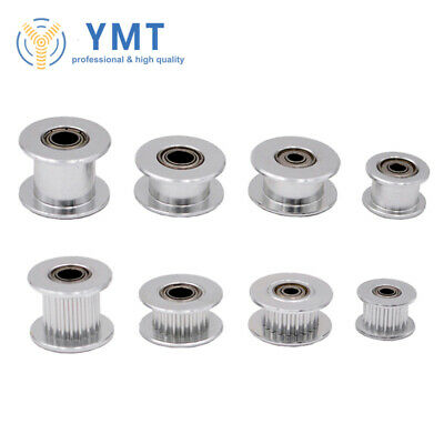 5PCS 3D Printer GT2 Idler Timing Pulley 16 20Teeth 3 or 5mm Bore with Bearings