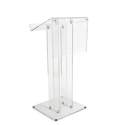 Acrylic Lectern | School Church Lectern with Fascia | Book Stand Podium Clear-UK