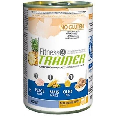 Trainer Fitness 3 - Adult Medium e Maxi con Pesce Mais e Olio da 400 gr PER 12 P