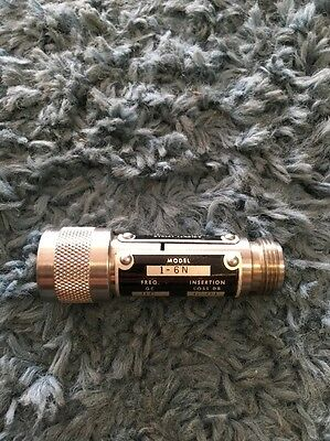 Weinschel Coaxial Attenuators DC-129H2 6db N-Connectors 1-6N