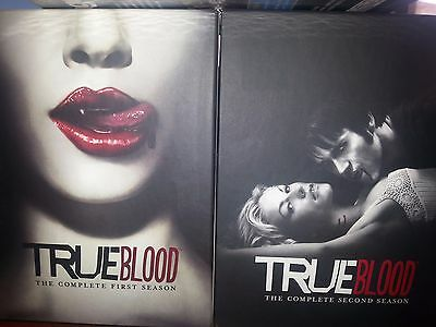True Blood la Prima Completa & Seconda Stagione 1 e 2 (DVD, 2009, 5-Disc Set)