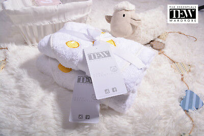 Hooded Towel Baby 2 Pack White Hooded Towels 100% Cotton Boys Girls Newborn