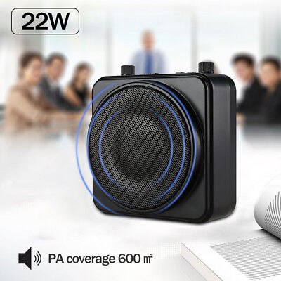 AKER 22W PA Voice Amplifier Booster Speaker + Wired Microphone For Teacher Guide