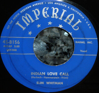 """< Be Ready When Mars Attacks! """"Indian Love Call"""" Clean M- '52 Slim Whitman 45"""