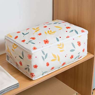 Zipped Foldable Storage Bag Clothes Blanket Quilt Closets Sweater Organizer Box