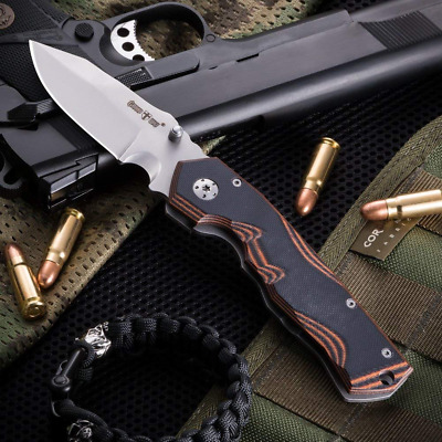 TACTICAL FOLDING KNIFE WITH CLIP POINT BLADE AND A POCKET CLIP. Made in Europe//