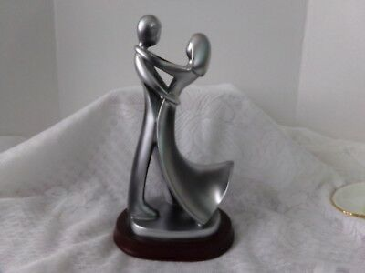 Decorative Herco Professional Gifts Silver Tone Man & Woman Dancing/Embracing