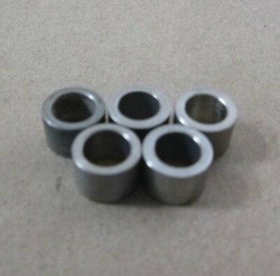 "(5pc.) 1/4"" ID x 3/8"" OD x 1/4"" LONG STAINLESS STEEL STANDOFF SPACER BUSHINGS"