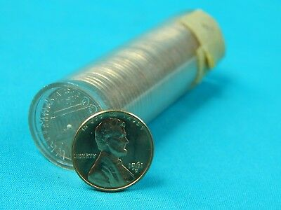 Roll of US 1961 D Lincoln Memorial 50 Pennies Penny 1 One Cent Coin Coins