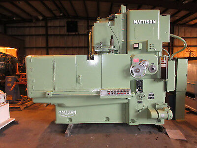 "Mattison Vertical Rotary Surface Grinder Model 24-42 42"" Chuck"
