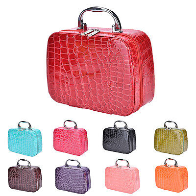 Fashion Makeup Storage Bag Case Jewelry Box Leather Travel Cosmetic Organizer LS
